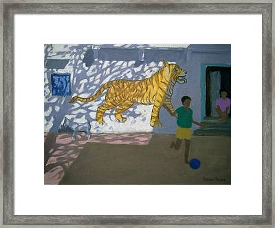 Tiger Framed Print by Andrew Macara