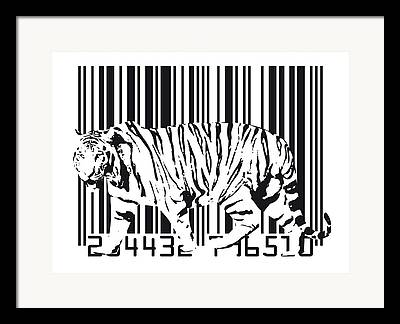 Tiger Cat Digital Art Framed Prints