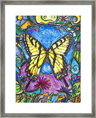 Tiger Butterfly Children Of The Earth Framed Print by Patricia Allingham Carlson