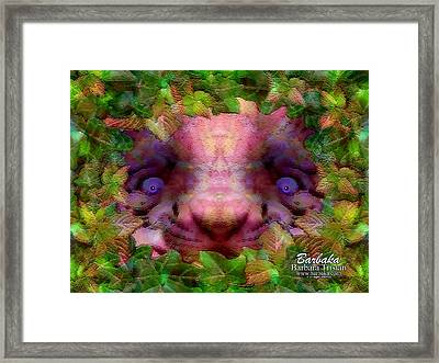Framed Print featuring the photograph Tiger Cub by Barbara Tristan