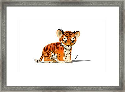 Tiger Cub Framed Print