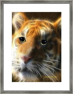 Tiger Cub Framed Print by Madeline  Allen - SmudgeArt
