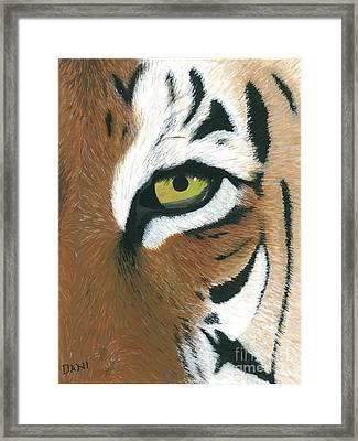 Tiger Framed Print by Dani Moore