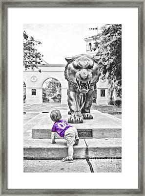 Tiger Dreams Digital Painting - Selective Color Framed Print