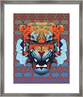 Tiger Framed Print by Dusty Conley