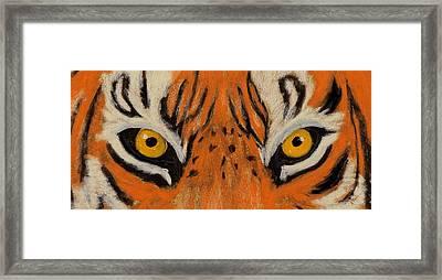 Tiger Eyes Framed Print by Anastasiya Malakhova