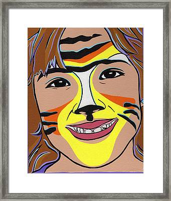 Tiger Girl Framed Print by Lucia  Perez