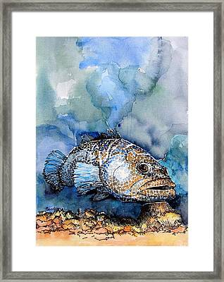 Framed Print featuring the painting Tiger Grouper by Terry Banderas