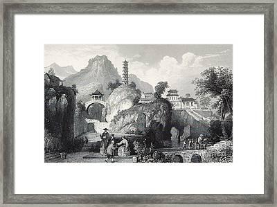 Tiger Hill Temple And Yunyan Pagoda Framed Print by British Library
