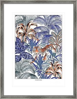 Tiger In It's Habitat Framed Print