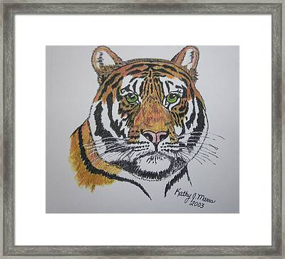 Tiger Framed Print by Kathy Marrs Chandler
