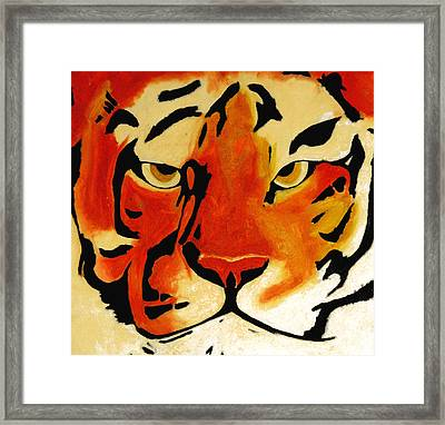 Tiger Framed Print by Turtle Caps