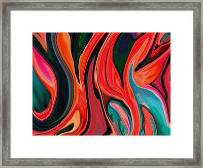 Tiger Lily Abstract Framed Print by Linnea Tober