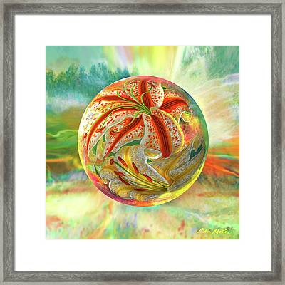 Framed Print featuring the digital art Tiger Lily Dream by Robin Moline