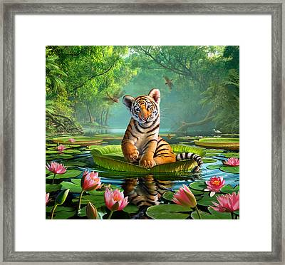 Tiger Lily Framed Print by Jerry LoFaro