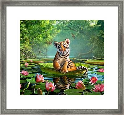 Tiger Lily Framed Print by Jerry LoFaro