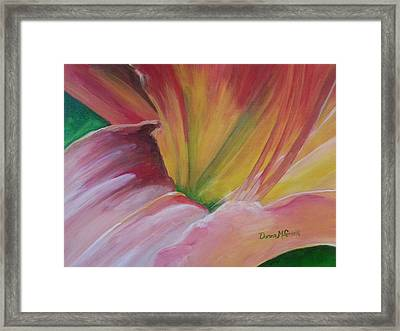 Tiger Lily Ready For Her Cose Up Framed Print