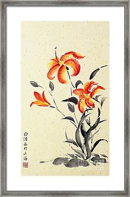 Tiger Lily - Red Framed Print