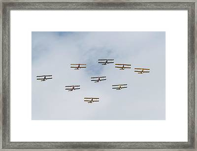 Framed Print featuring the photograph Tiger Moth Formation by Gary Eason