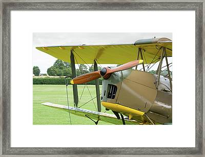 Framed Print featuring the photograph Tiger Moth Propeller by Gary Eason