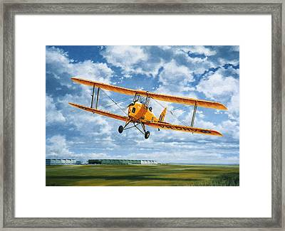 'tiger Moth - Wind Beneath My Wings' Framed Print