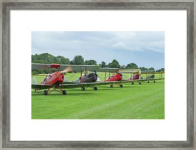 Framed Print featuring the photograph Tiger Moths Formation Shutdown by Gary Eason