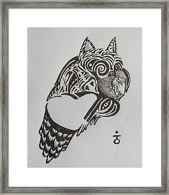 Tiger Owl Framed Print