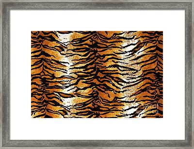Tiger Print Background Framed Print by Antonio Gravante