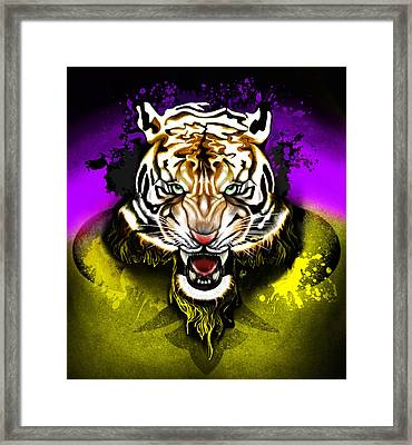 Tiger Rag Framed Print by AC Williams