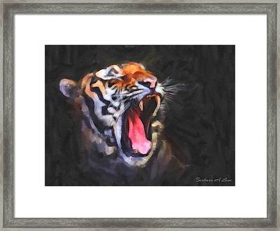 Tiger Roar Framed Print