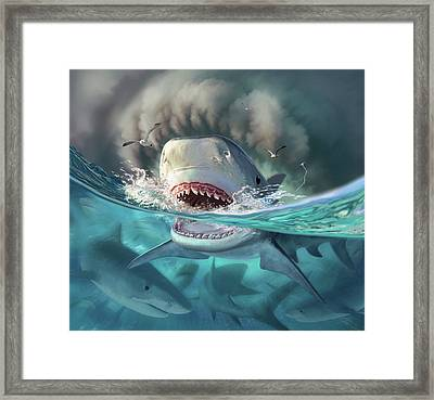Tiger Sharks Framed Print