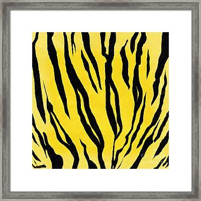 Tiger Skin Square Framed Print