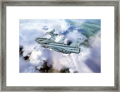 Tiger Squadron Peel Off Framed Print by Peter Chilelli