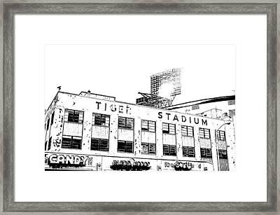 Tiger Stadium Photography Print Framed Print by Melissa Poirier