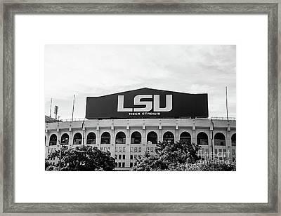 Tiger Stadium Pov 2 Bw Framed Print