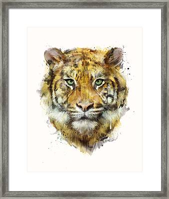 Tiger // Strength Framed Print by Amy Hamilton