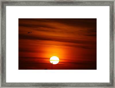 Tiger Sunset Framed Print by Don Prioleau