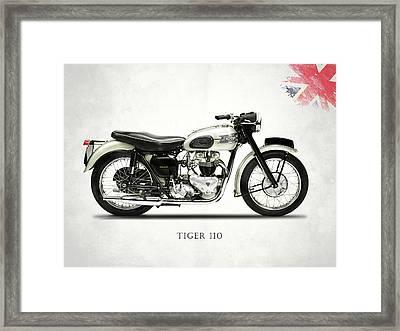 Tiger T110 1957 Framed Print by Mark Rogan