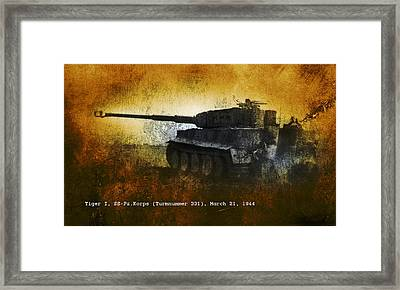 Framed Print featuring the digital art Tiger Tank by John Wills