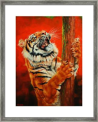 Tiger Tiger Burning Bright Framed Print