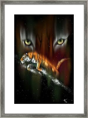 Tiger, Tiger Burning Bright Framed Print