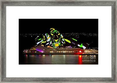 Tiger Tiger Burning Bright - Sydney Vivid Festival Framed Print by Bryan Freeman