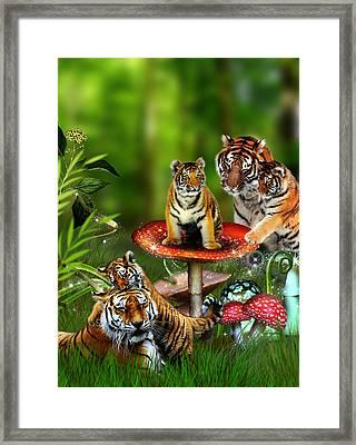 Tiger Toadstools Framed Print by Julie L Hoddinott