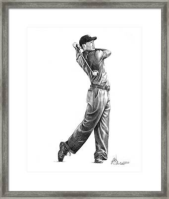 Tiger Woods Full Swing Framed Print
