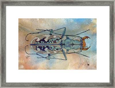 Tigerbeetlelandscape Framed Print
