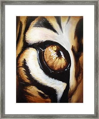 Tiger's Eye Framed Print by Lane Owen