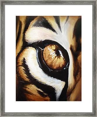 Tiger's Eye Framed Print by Lane Owen