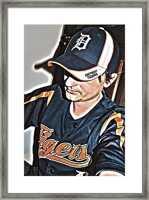 Tigers Fan Framed Print by Adam Kushion