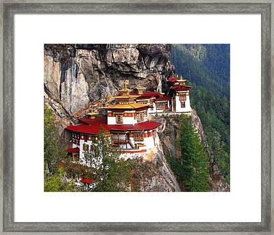 Tigers Nest Bhutan Framed Print
