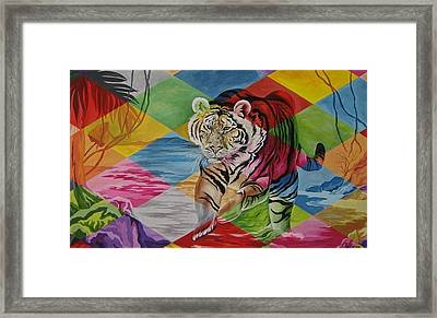 Tiger's Power Framed Print by Netka Dimoska